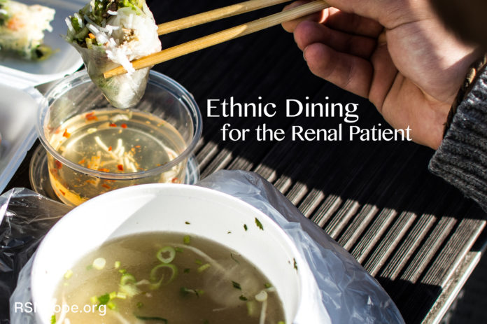 Ethnic Dining For the Renal Patient