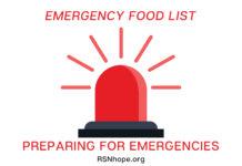 Emergency Food List-Preparing for Emergencies