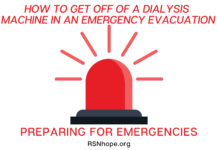 How to Get Off of a Dialysis Machine in an Emergency Evacuation-Preparing for Emergencies