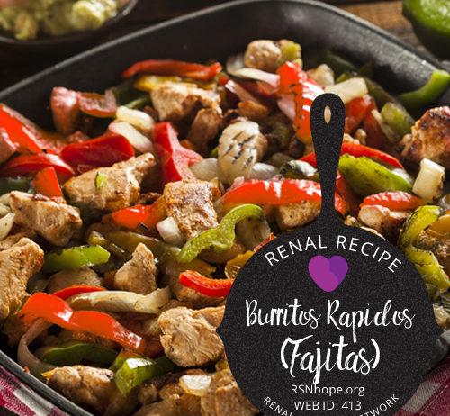 kidney friendly fajitas recipe