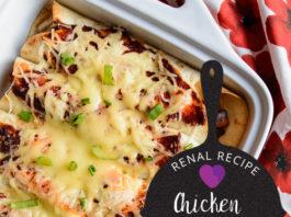 Renal Recipe-Chicken Enchiladas