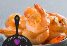 renal diet - renal recipe - Marinated Shrimp
