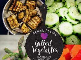 renal diet - Grilled Vegetables - renal recipes
