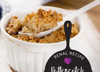 Renal Recipe Butterscotch Apple Crisp