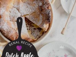 Renal Recipe Dutch Apple Pancake