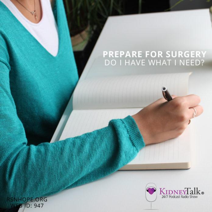 Prepare for Surgery -Kidney Talk