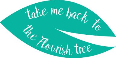 flourish leaf - back button