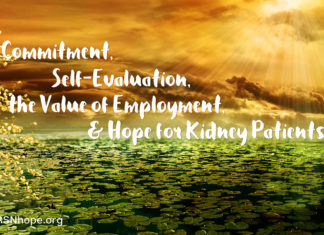 Value of employment for kidney patients