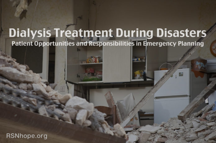 Dialysis Treatment Emergency Planning for Disasters