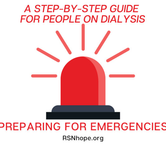 prepare for emergencies - A Step-by-Step Guide for People on Dialysis