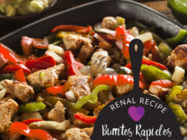 kidney friendly fajitas recipe