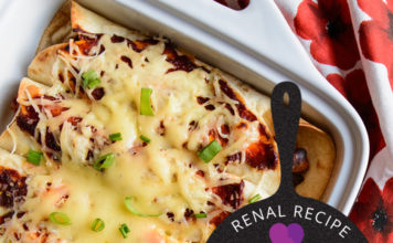 Renal Recipe-Chicken Enchiladas