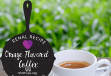 Renal Recipe-Orange Flavored Coffee