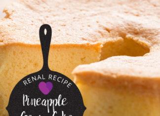 Renal Recipe-Pineapple Cream Cake