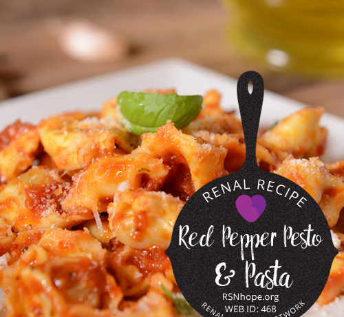 Renal Recipe-Roasted Red Pepper Pesto