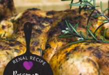 Renal Recipe-Rosemary Chicken