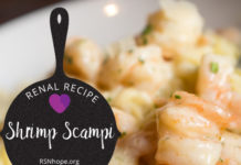 Renal Recipe-Shrimp Scampi