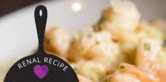 Renal Recipe-Shrimp Scampi