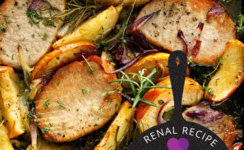 Renal Recipe-Spicy Pork Chops with apple and onion