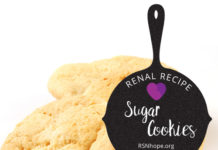 Renal Recipe-Sugar Cookies