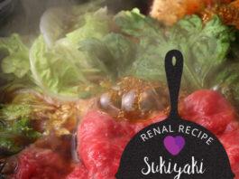 Renal Recipe-Sukiyaki and Rice