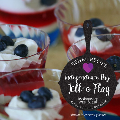Renal Recipe-independence day - Jell-o Flag