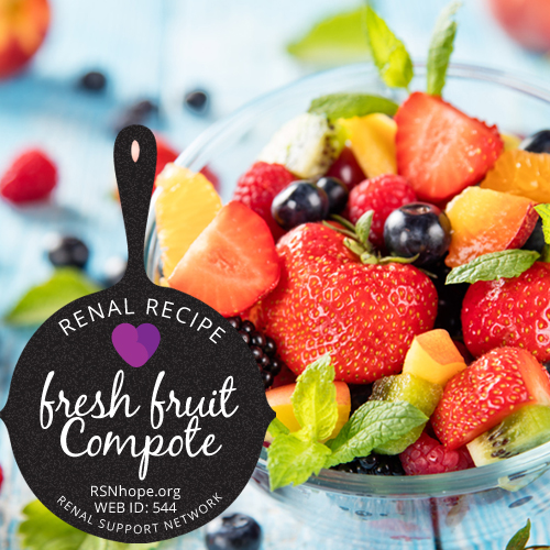 renal diet fresh fruit Compote