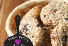 sugarless pecan and raisin cookies - renal diet