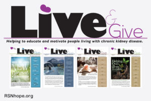Live&Give newsletter for people with kidney disease