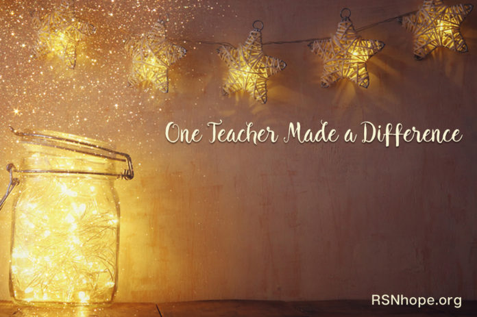 Lori Hartwell - One Teacher Made a Difference