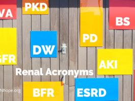 Renal Acronyms - kidney disease abbreviations