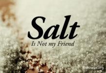 Reducing or avoiding sodium intake