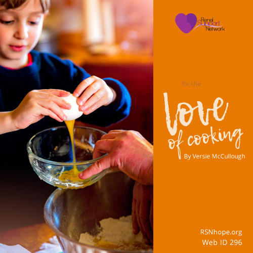 for the love of cooking - 2011 essay
