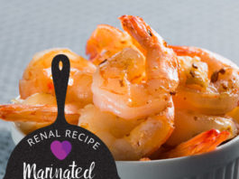 renal diet - renal recipe - Marinated Shrimp