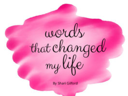 words that changed my life