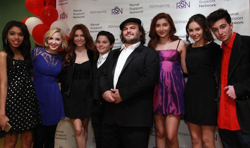 Jack Black and teen guests 14th renal teen prom