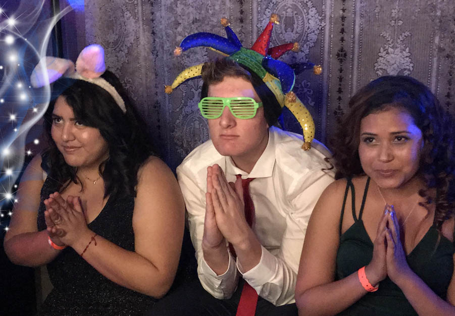 Dashing Events photo booth with Renal Teen Prom Guests