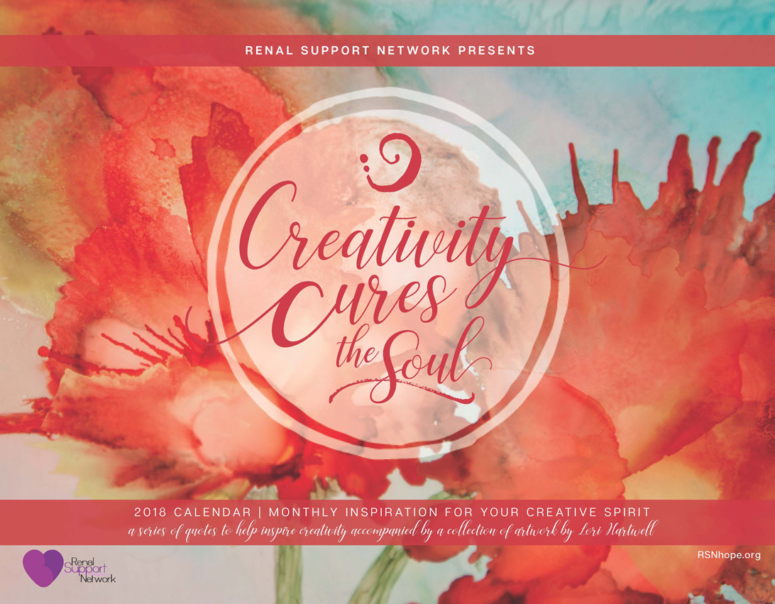 2018 Calendar - Creativity Cures the Soul - art therapy