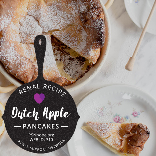 Renal Recipe Dutch Apple Pancake