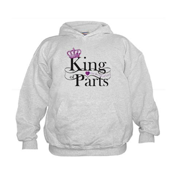 King of Parts Sweatshirt - kidney gift - RSN merchandise - cafe press