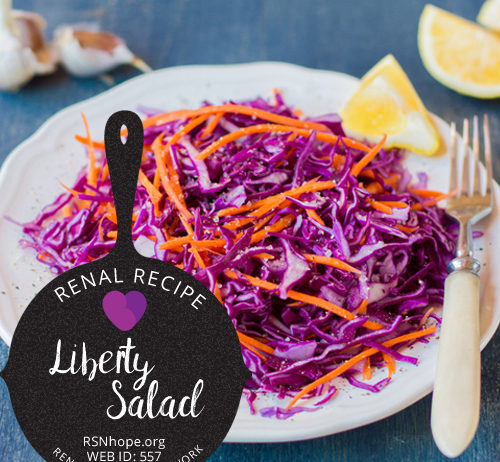 kidney friendly salad-Renal Recipe Liberty Salad