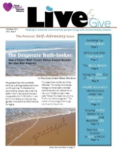 Live and Give Newsletter Fall=Winter 2013