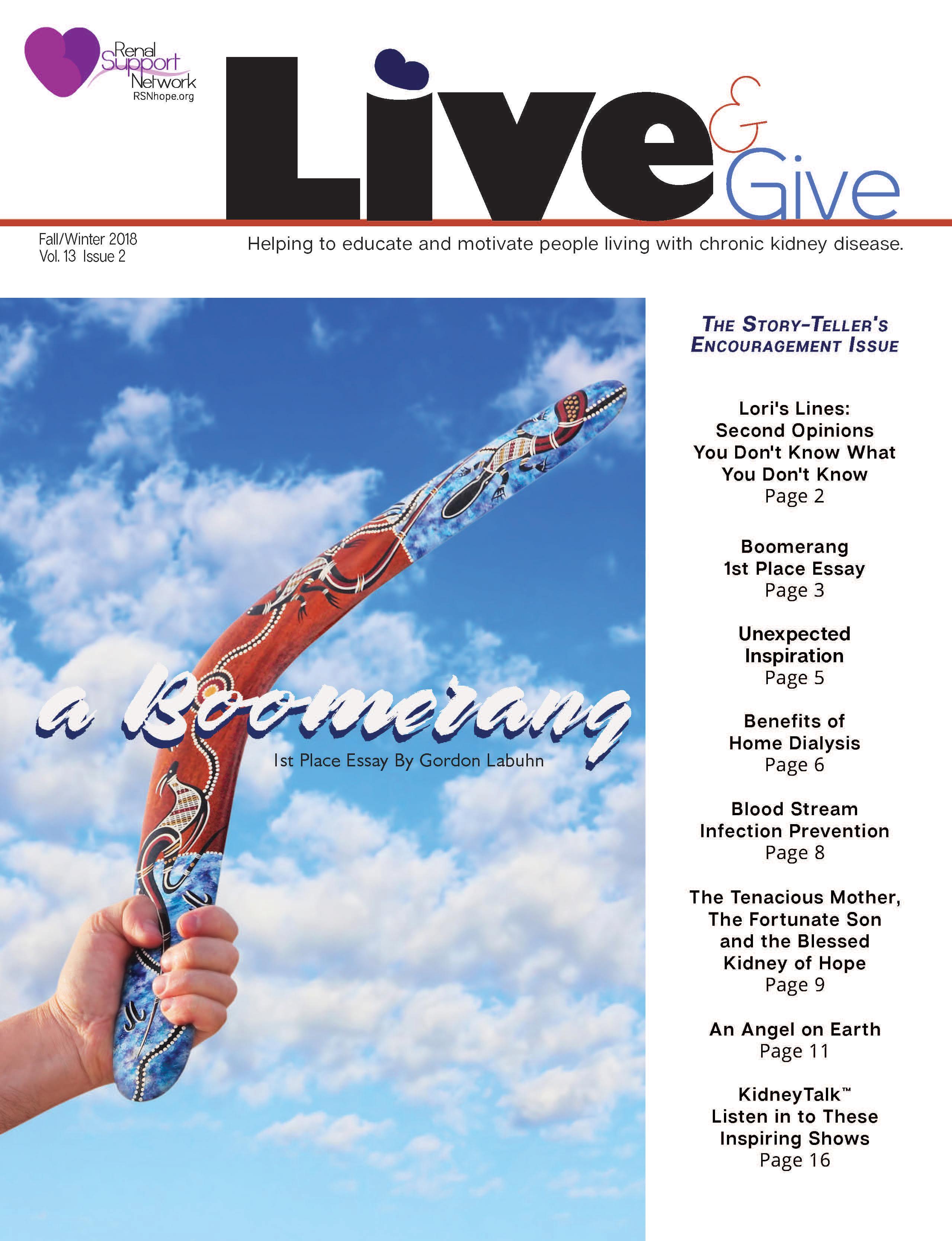 Livegive Magazine Renal Support Network