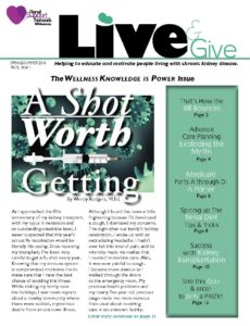 Live and Give Newsletter Spring-Summer 2014
