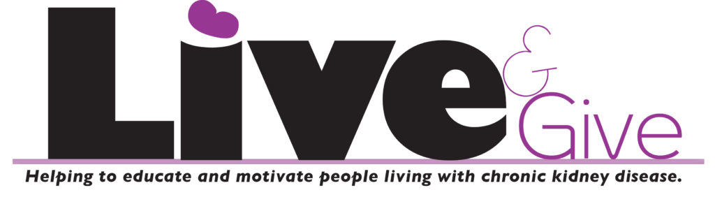 Live and Give Newsletter Logo Renal Support Network