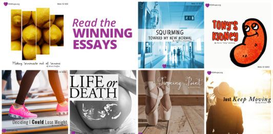 Essay Contest for people who have Kidney Disease - RSN's 15th Annual Essay Contest Winners