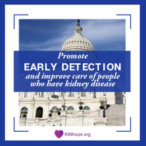 H.R. 3867 promote early detection and improve care of people who have kidney disease