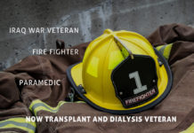Iraq WarVeteran FireFighter Paramedic transplant Kidney Talk