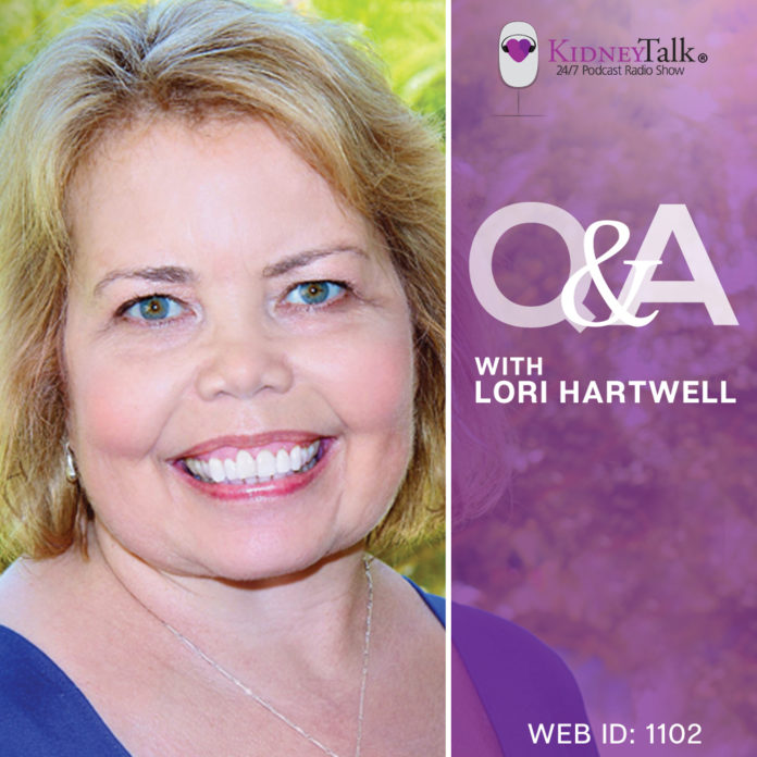 living with kidney disease - lori hartwell - kidney talk