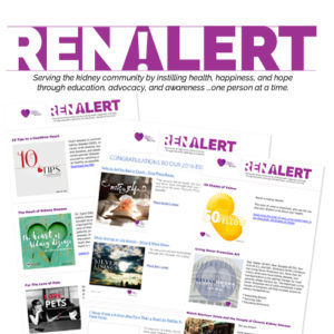 RenAlert - news about living with kidney disease